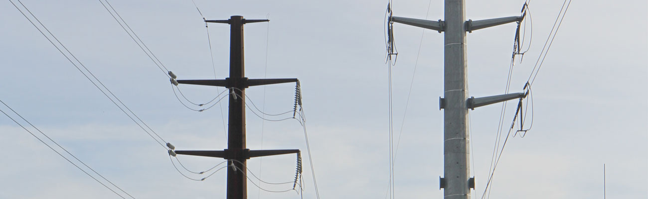 Photo of transmission poles and lines