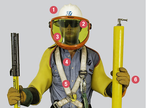 lineman in safety gear